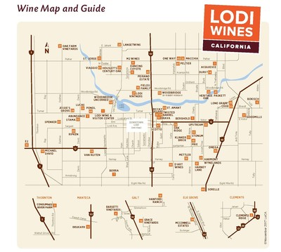 Downloadable Wine Map of Lodi AVA